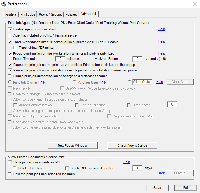 Control Printing Software | PrinterAdmin